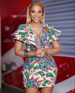 hot, classy ankara short gown style for wedding and party
