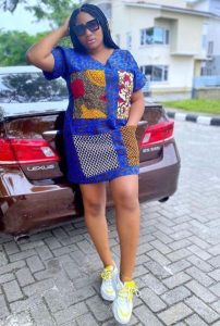 short ankara shirt gown style for young ladies