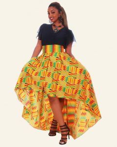 high low ankara skirt with top for young ladies