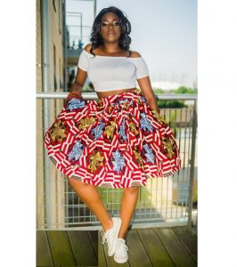 high waist short maxi skirt with off shoulder crop top for young ladies