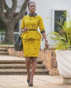 cute ankara short skirt with peplum blouse style