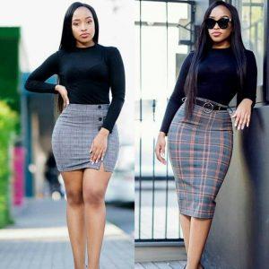 ankara mini pencil skirt vs knee length pencil skirt style