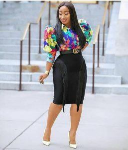 special ankara short pencil skirt with classy ankara blouse