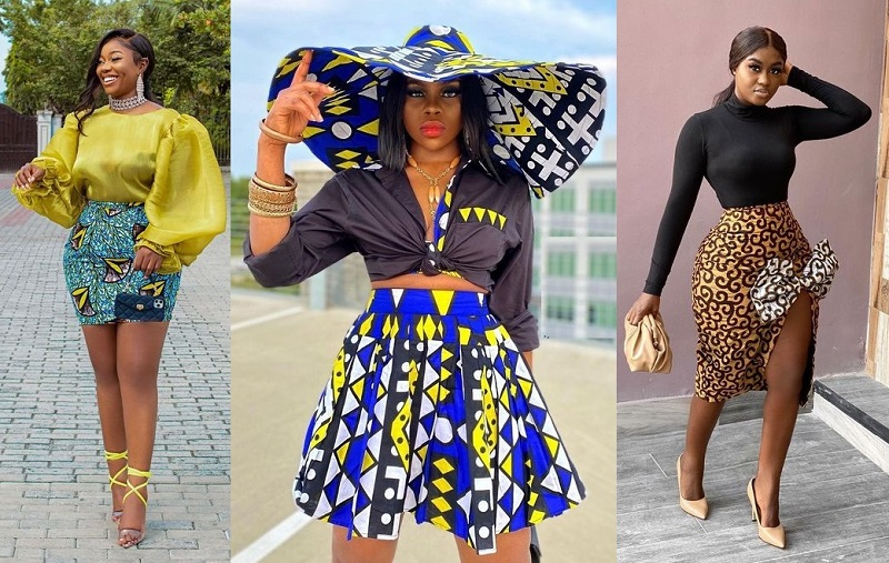 latest ankara short skirt and blouse styles for young ladies