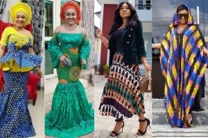 ankara styles for young ladies, inspired by mercy aigbe