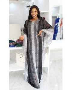 ankara long gown style for wedding and church