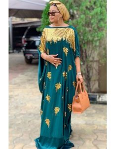 ankara ready made long gown for beautiful young ladies