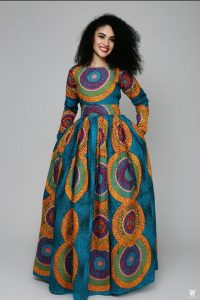 cute ankara long maxi gown for young ladies