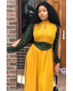 ankara long gown for chubby, busty ladies