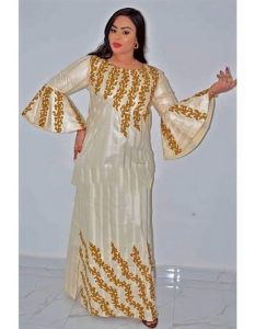 ankara kaftan dress style for young ladies