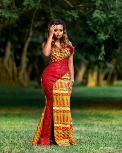 trending ankara long gown style for wedding and church