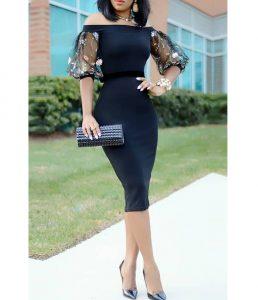 ankara short gown style for curvy slim ladies