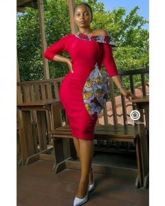 ankara short gown style for curvy young ladies