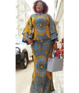 stylish ankara long skirt and blouse for young moms