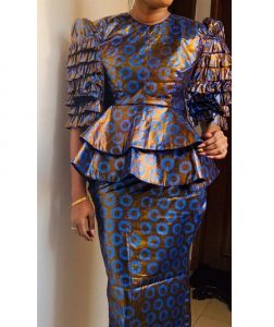 special ankara peplum top with long skirt