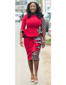 ankara short skirt and blouse for chubby, busty ladies