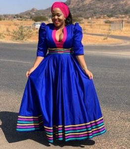 ankara long gown style for busty ladies