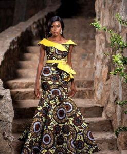 classy ankara long mermaid gown for special occasions