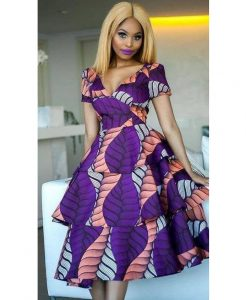 ankara cinderella dress style for young ladies