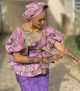 stylish ankara peplum blouse for classy ladies