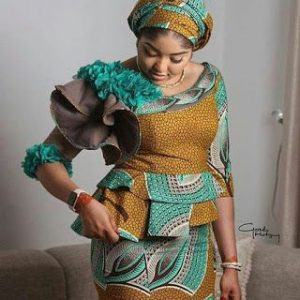 special ankara blouse and skirt for church