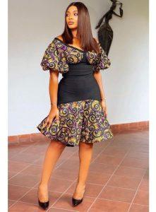 short ankara skirt for young pretty ladies