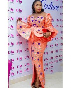 unique ankara peplum blouse with long skirt for church and wedding