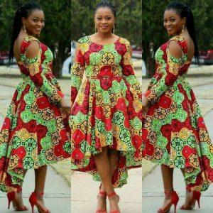 stylish ankara short gown for church and wedding