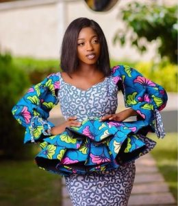 trending ankara peplum blouse with skirt for young ladies