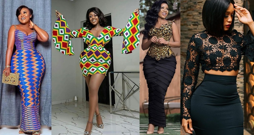 ankara fashion styles for young curvy ladies, gown, trousers, skirt and blouse