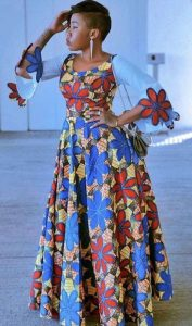 ankara long maxi gown for young ladies