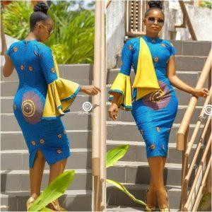 ankara short gown for curvy beautiful ladies