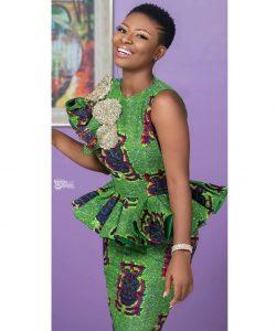 short sleeve ankara peplum skirt and blouse style for wedding