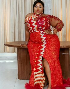 ankara long gown for plus size ladies