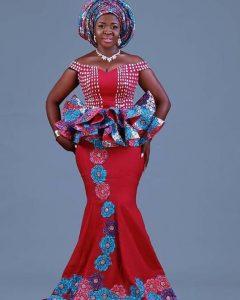 stylish ankara peplum skirt and blouse for wedding and church