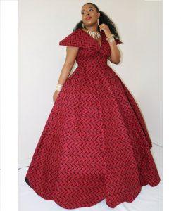 long ankara maxi gown for wedding