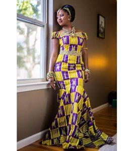 ankara aso ebi long gown for cute young ladies