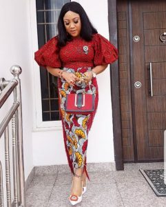 cute ankara skirt and blouse for classy ladies