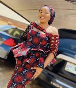 special ankara peplum blouse with long skirt for wedding and church