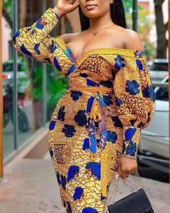 hot ankara short gown for curvy young ladies