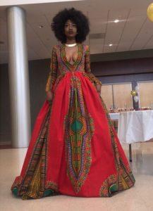long ankara maxi gown for young slay queens