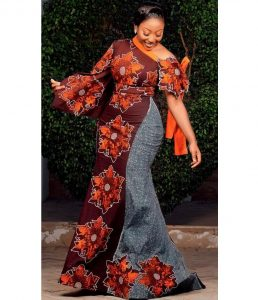 ankara long gown for classy young ladies