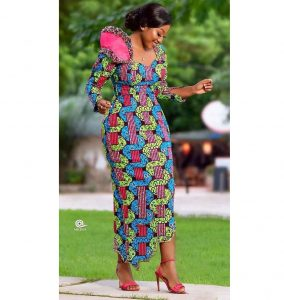 stylish ankara long gown style for wedding and church
