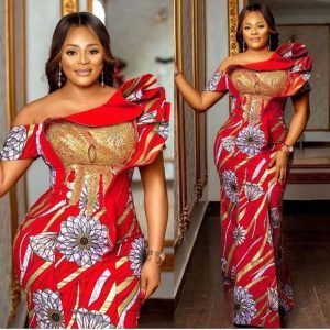 classy ankara long gown style for wedding and party