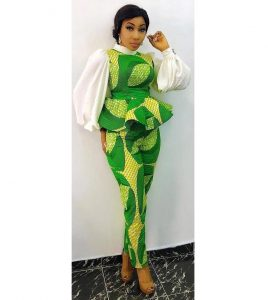 classy ankara blouse with long skirt for beauty queens