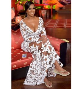 hot ankara lace wedding gown style for young ladies