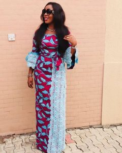 ankara plus lace blouse and wrapper style for young ladies