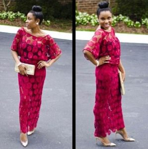 ankara lace buba and blouse style for young ladies