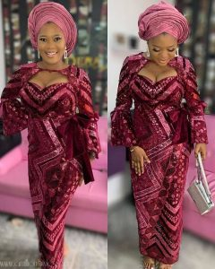 busty ladies ankara lace blouse and wrapper style for wedding