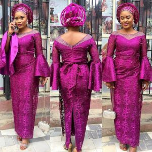 latest ankara wrapper-gown style